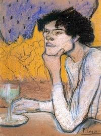 Girl in a Cafe - Picasso